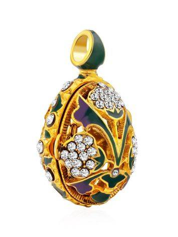Colorful Enamel Locket Egg Pendant The Romanov, image , picture 4