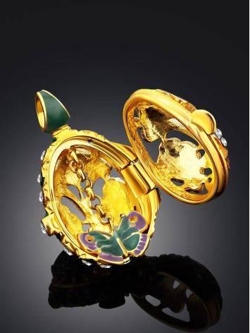 Colorful Enamel Locket Egg Pendant The Romanov, image , picture 2