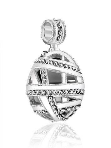 White Enamel Crystal Egg Pendant The Romanov, image , picture 4