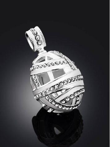 White Enamel Crystal Egg Pendant The Romanov, image , picture 2