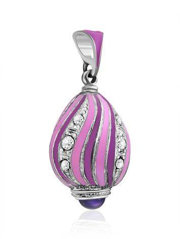 Wonderful Lilac Enamel Egg Shaped Pendant With iolite And Crystal The Romanov, image , picture 4
