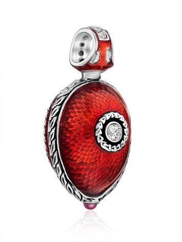 Whimsical Ladybird Motif Enamel Garnet Egg Pendant The Romanov, image , picture 4