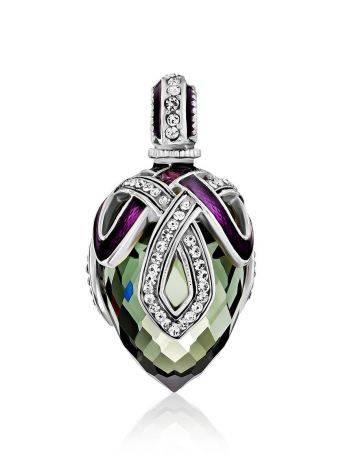 Fabulous Silver Crystal Egg Shaped Pendant The Romanov, image