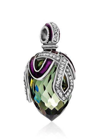 Fabulous Silver Crystal Egg Shaped Pendant The Romanov, image , picture 4