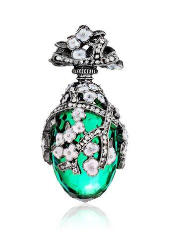 Lustrous Faceted Green Crystal Egg Shaped Pendant The Romanov, image