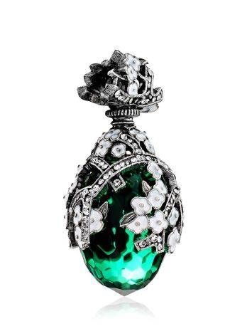 Lustrous Faceted Green Crystal Egg Shaped Pendant The Romanov, image , picture 4