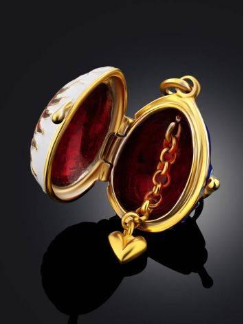 Celestial Design Enamel Locket Egg Pendant The Romanov, image , picture 2