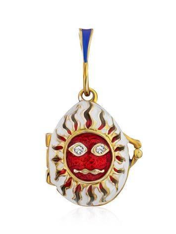Celestial Design Enamel Locket Egg Pendant The Romanov, image