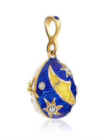 Celestial Design Enamel Locket Egg Pendant The Romanov, image , picture 4