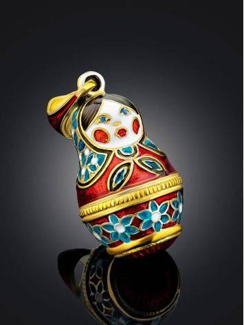 Colorful Enamel Matryoshka Egg Pendant The Romanov, image , picture 2