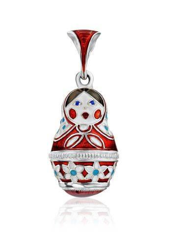 Enamel Matryoshka Egg Pendant The Romanov, image