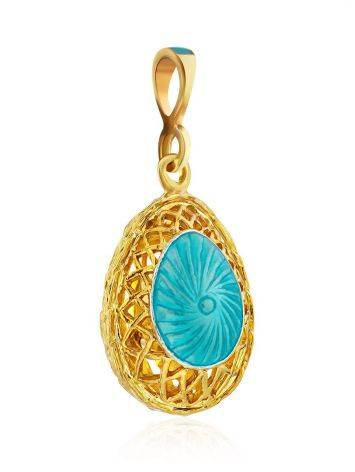 Fabulous Gilded Silver Enamel Egg Pendant With Crystals The Romanov, image , picture 4
