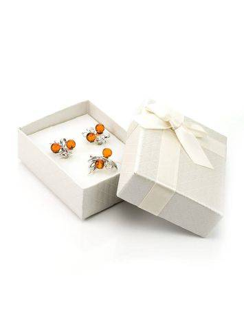 Textured White Cardboard Gift Box With Ribbon, image , picture 2