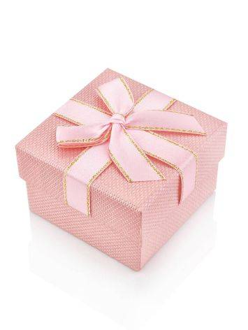 Cute Pink Gift Box With Ribbon, image
