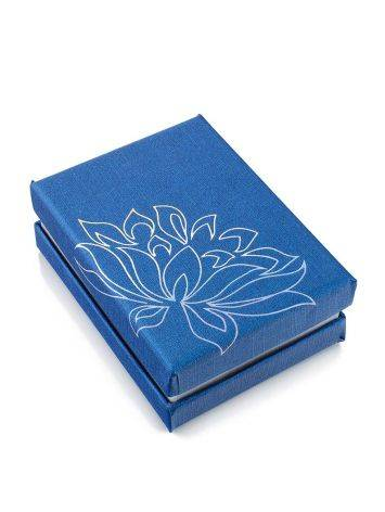 Floral Motif Blue Gift Box, image
