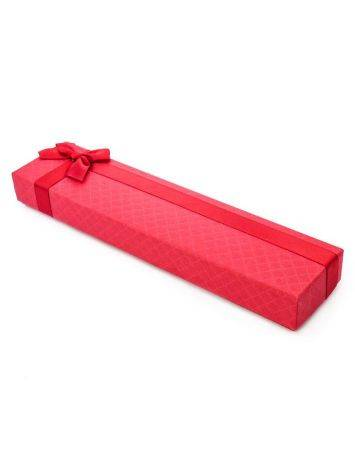 Red Gift Box With Ribbon, image