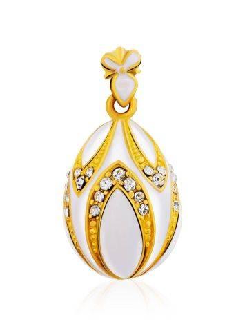 Chic Gilded Silver Enamel Egg Shaped Pendant The Romanov, image