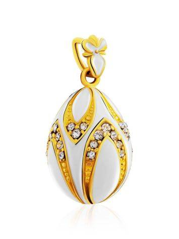 Chic Gilded Silver Enamel Egg Shaped Pendant The Romanov, image , picture 4