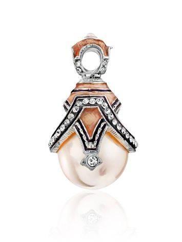 Fabulous Silver Pearl Egg Shaped Pendant The Romanov, image