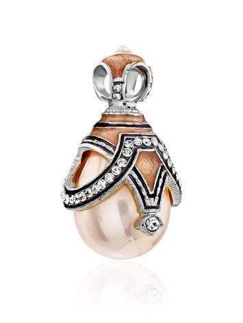 Fabulous Silver Pearl Egg Shaped Pendant The Romanov, image , picture 4