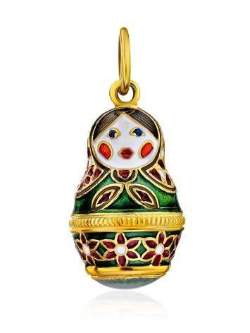 Bright Enamel Matryoshka Egg Pendant The Romanov, image