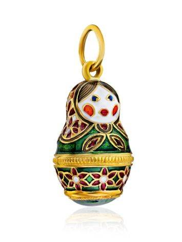 Bright Enamel Matryoshka Egg Pendant The Romanov, image , picture 4