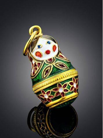 Bright Enamel Matryoshka Egg Pendant The Romanov, image , picture 2