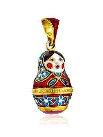 Colorful Enamel Matryoshka Egg Pendant The Romanov, image , picture 4