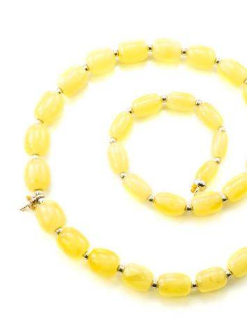 Honey Amber Beaded Necklace With Bail, image