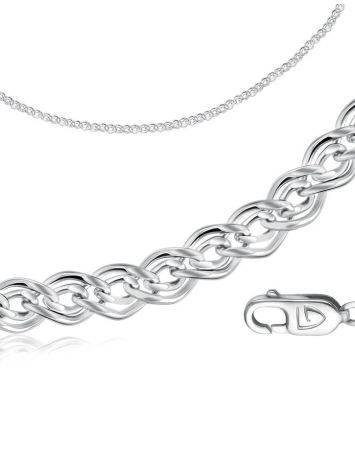 Silver Nonna Chain, Length: 50, image