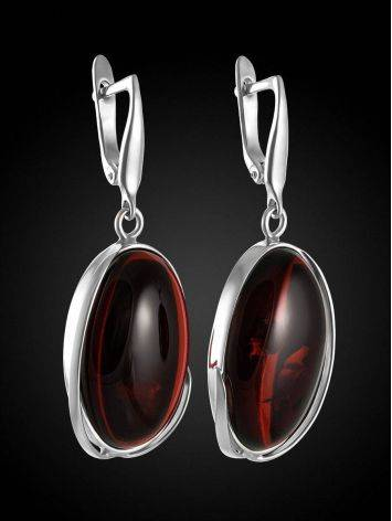 Luminous Cognac Amber Earrings The Lagoon Collection, image , picture 2