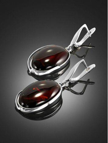 Luminous Cognac Amber Earrings The Lagoon Collection, image , picture 3