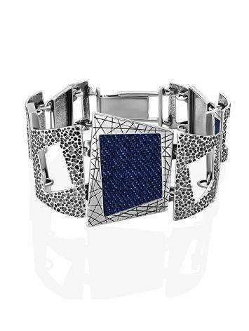 Chunky Silver Jeans Link Bracelet, image