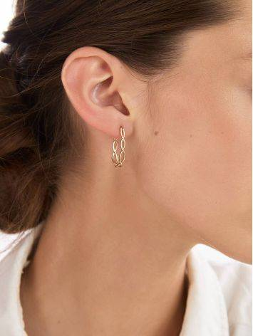 Double Twisted Hoop Earrings The Liquid, image , picture 3