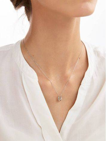 Striking Silver Pendant Necklace The Liquid, image , picture 4