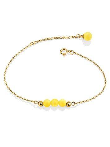Chic Gilded Silver Amber Bracelet The Palazzo, image