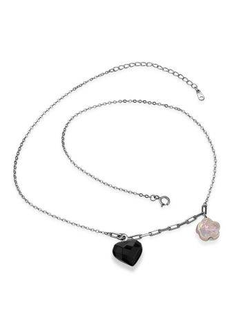 Cute Silver Necklace With Amber And Pearl Pendants The Palazzo, image , picture 4