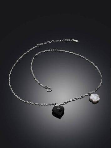 Cute Silver Necklace With Amber And Pearl Pendants The Palazzo, image , picture 2