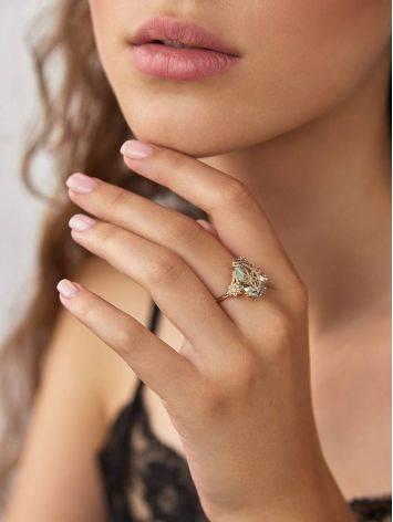 Light Blue Quartz Ring, Ring Size: 7 / 17.5, image , picture 3