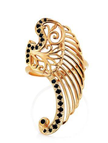 Wing Motif Gilded Silver Ring, Ring Size: 8 / 18, image , picture 4