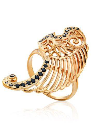 Wing Motif Gilded Silver Ring, Ring Size: 8 / 18, image