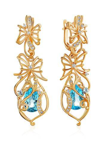 Refined Gilded Silver Topaz Earrings, image