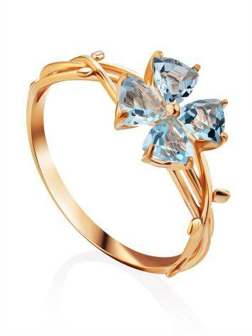 Gilded Silver Topaz Ring, Ring Size: 8 / 18, image
