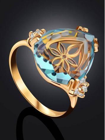 Light Blue Quartz Ring, Ring Size: 7 / 17.5, image , picture 2