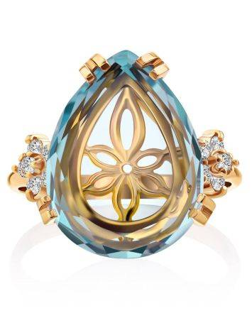 Light Blue Quartz Ring, Ring Size: 7 / 17.5, image , picture 4