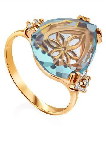 Light Blue Quartz Ring, Ring Size: 7 / 17.5, image
