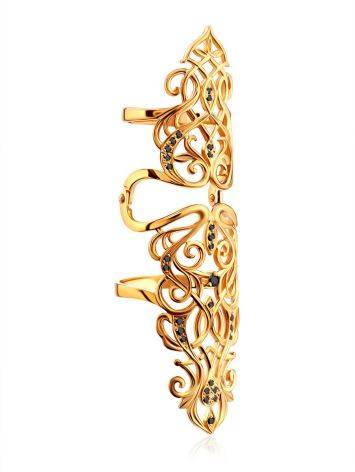 Fabulous Gilded Silver Articulated Ring, Ring Size: 5.5 / 16, image , picture 5