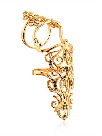 Fabulous Gilded Silver Articulated Ring, Ring Size: 5.5 / 16, image