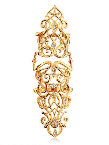 Baroque Style Gilded Silver Articulated Ring, Ring Size: 8 / 18, image , picture 5