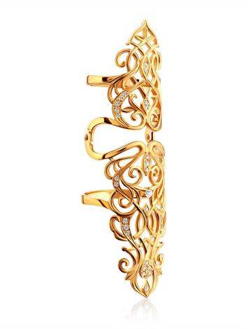 Baroque Style Gilded Silver Articulated Ring, Ring Size: 8 / 18, image , picture 4